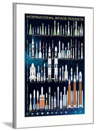 International Space Rockets--Framed Poster