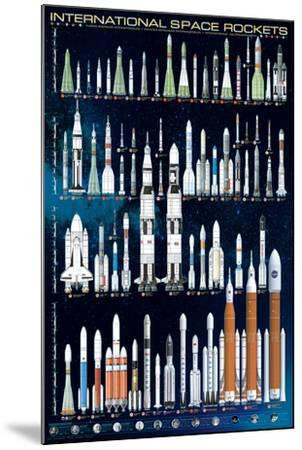 International Space Rockets--Mounted Poster