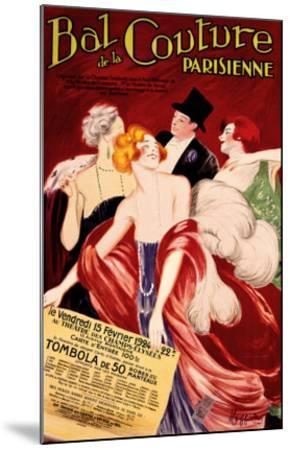 Bal de la Couture Parisienne-Leonetto Cappiello-Mounted Giclee Print