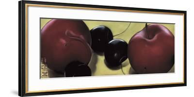 Red Plums and Cherries-Sylvia Gonzalez-Framed Art Print