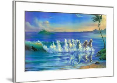 Galloping Waves-Jim Warren-Framed Art Print