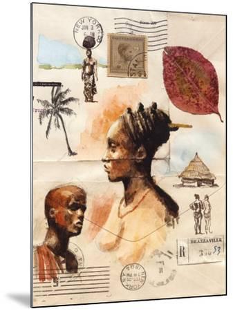 African Profiles-Marc Lacaze-Mounted Art Print