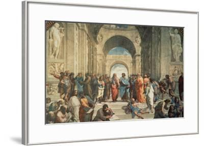 The School of Athens, c.1511 (detail)-Raphael-Framed Art Print