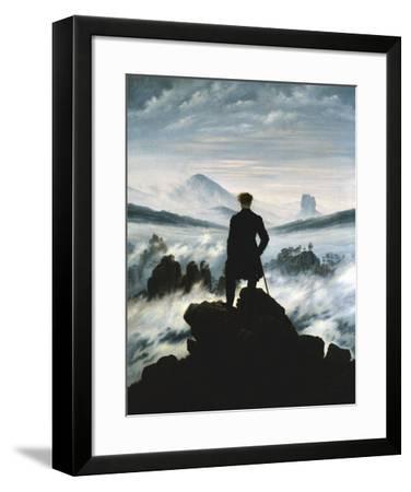 The Wanderer Above the Sea of Fog, c.1818-Caspar David Friedrich-Framed Art Print