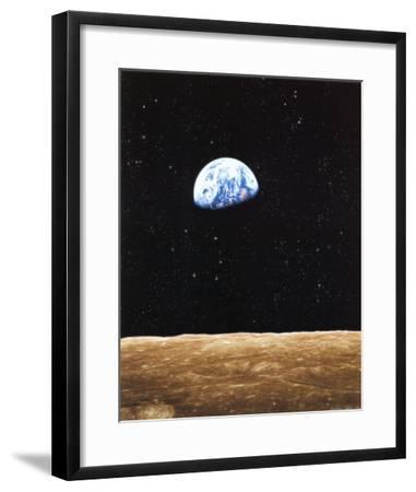 Earth Rise from Moon--Framed Art Print