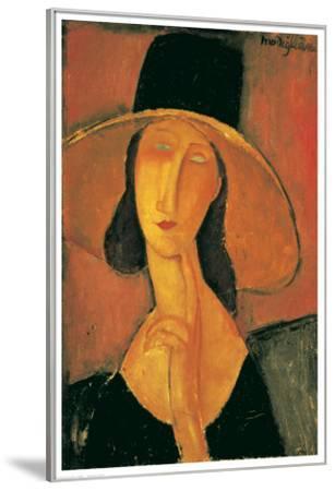 Jeanne Hebuterne-Amedeo Modigliani-Framed Premium Giclee Print