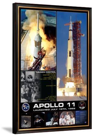 Apollo II Launch--Framed Premium Giclee Print