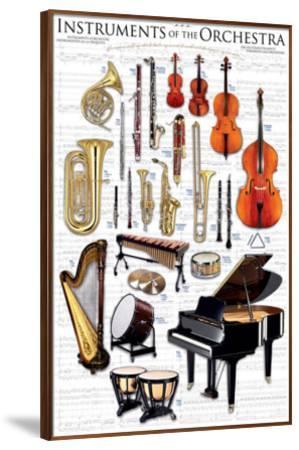 Instruments of the Orchestra--Framed Premium Giclee Print