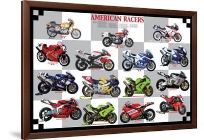 American Racers--Framed Premium Giclee Print