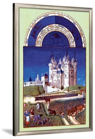Les Riches Heures du Duc de Berry, Septembre--Framed Premium Giclee Print