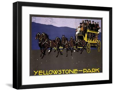 Yellowstone Park-Ludwig Hohlwein-Framed Giclee Print