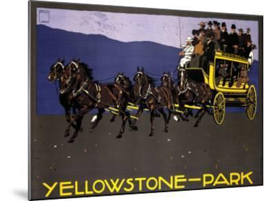 Yellowstone Park-Ludwig Hohlwein-Mounted Giclee Print
