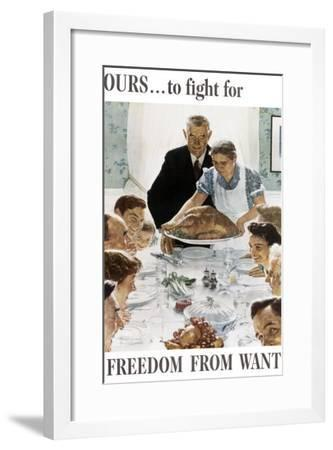 Ours to Fight for Freedom from Want--Framed Giclee Print