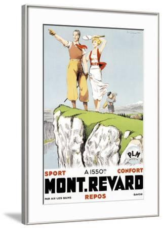 Mont Revard, Tennis and Golf-Paul Ordner-Framed Giclee Print