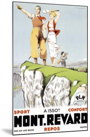 Mont Revard, Tennis and Golf-Paul Ordner-Mounted Giclee Print