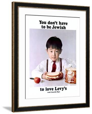 You Don't Have to Be Jewish to Love Levy's Real Jewish Rye-P^ Bonnet-Framed Giclee Print