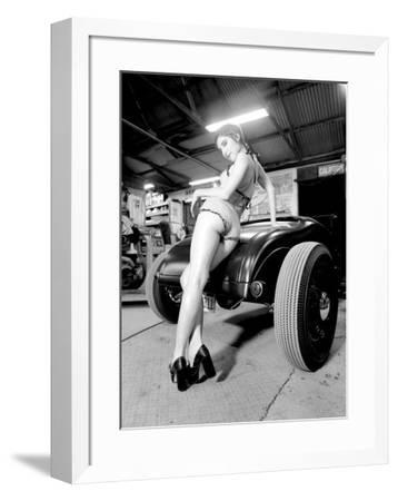 Pin-Up Girl: Deuce High Boy-David Perry-Framed Giclee Print