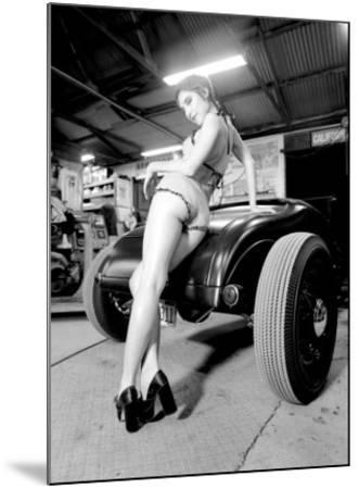 Pin-Up Girl: Deuce High Boy-David Perry-Mounted Giclee Print