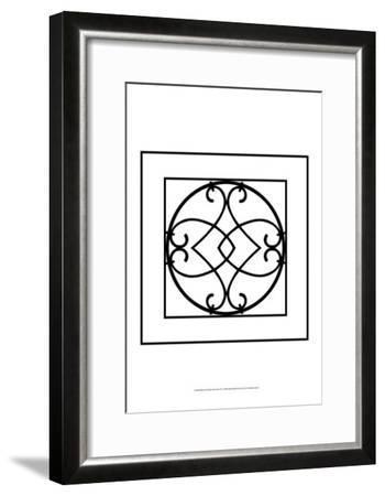 Black and White Ironwork VI-Chariklia Zarris-Framed Art Print