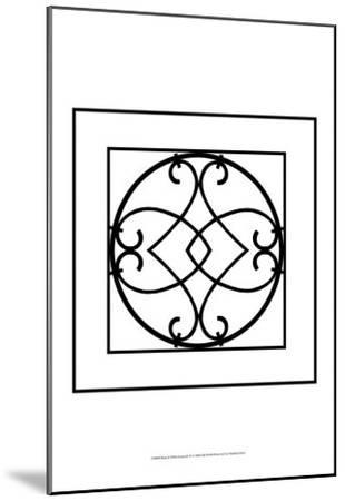 Black and White Ironwork VI-Chariklia Zarris-Mounted Art Print