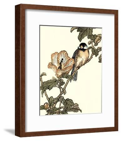 Oriental Bird on Branch I--Framed Art Print