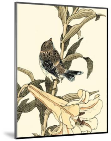 Oriental Bird on Branch II--Mounted Art Print