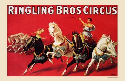 Rigling Bros Circus, 1916--Framed Art Print