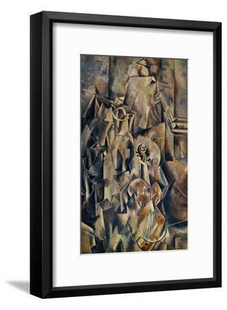 Violon and Jug-Georges Braque-Framed Art Print