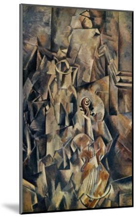 Violon and Jug-Georges Braque-Mounted Art Print