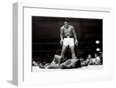 Muhammad Ali vs. Sonny Liston--Framed Art Print