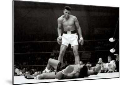 Muhammad Ali vs. Sonny Liston--Mounted Art Print