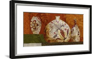 Golden Brocade II-Yuko Lau-Framed Art Print