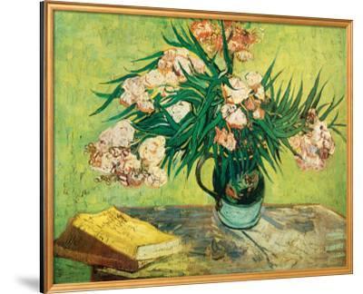 Vase with Oleanders and Books, c.1888-Vincent van Gogh-Framed Premium Giclee Print