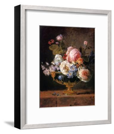 Fleurs dans un Vase de Porceleine Bleue, c.1780-Anne Vallayer-coster-Framed Art Print