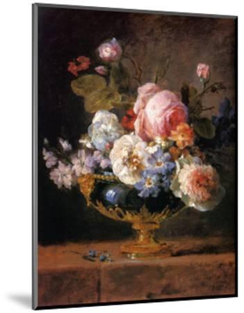 Fleurs dans un Vase de Porceleine Bleue, c.1780-Anne Vallayer-coster-Mounted Art Print