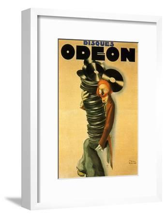 Disques Odeon, c.1932-Paul Colin-Framed Art Print