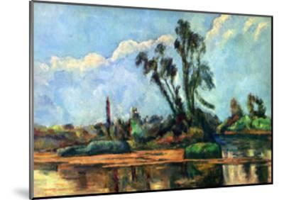 Bank of the Oise, c.1888-Paul C?zanne-Mounted Art Print