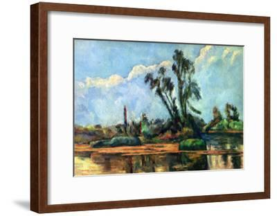 Bank of the Oise, c.1888-Paul C?zanne-Framed Art Print