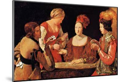 Le Tricheur a l'As de Tre`fle-Georges de La Tour-Mounted Art Print