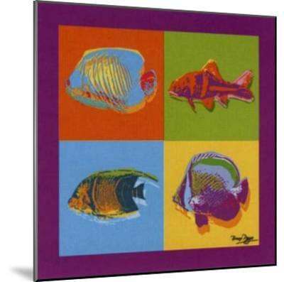 Happy Fishes-Bruno Pozzo-Mounted Art Print
