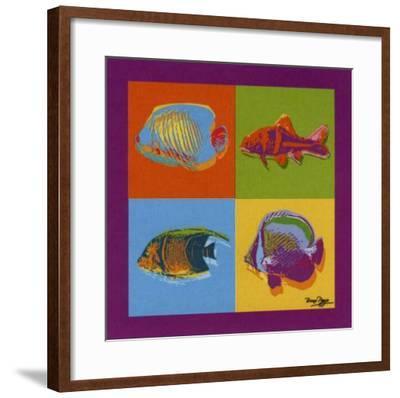 Happy Fishes-Bruno Pozzo-Framed Art Print
