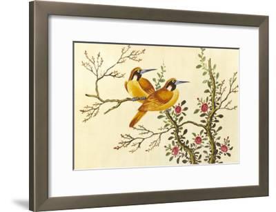 Yellow Birds On Branch--Framed Premium Giclee Print