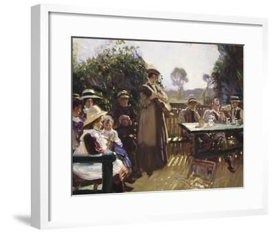 Somewhere In The Sun-Sir Alfred Munnings-Framed Premium Giclee Print