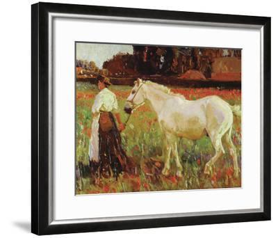 The Poppy Field-Sir Alfred Munnings-Framed Premium Giclee Print