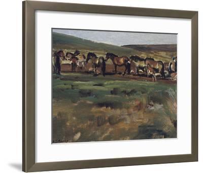 Exmoor Ponies-Sir Alfred Munnings-Framed Premium Giclee Print