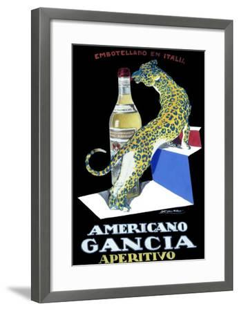 Americano Gancia Apertivo-Achille Luciano Mauzan-Framed Giclee Print