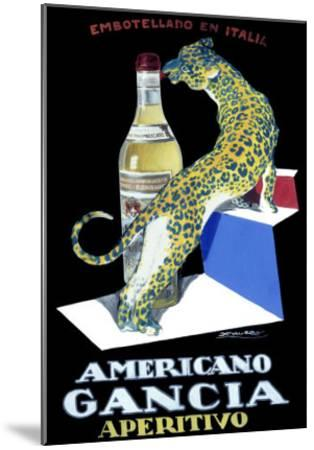 Americano Gancia Apertivo-Achille Luciano Mauzan-Mounted Giclee Print