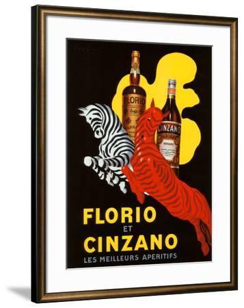 Florio et Cinzano Apertifs-Leonetto Cappiello-Framed Giclee Print