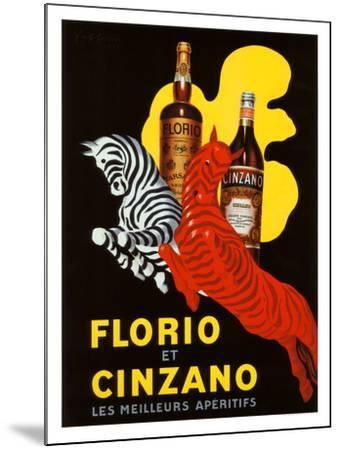 Florio et Cinzano Apertifs-Leonetto Cappiello-Mounted Giclee Print