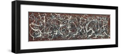 Number 13A: Arabesque-Jackson Pollock-Framed Art Print
